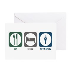 Eat Sleep Toy Safety Greeting Cards (Pk of 20)