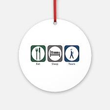 Eat Sleep Tours Ornament (Round)