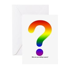 Rainbow Gay Pride Query Greeting Cards (Package of