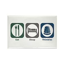 Eat Sleep Thimbles Rectangle Magnet