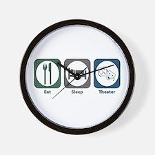 Eat Sleep Theater Wall Clock