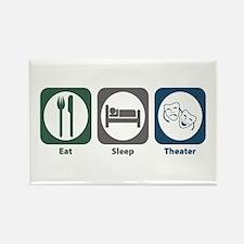 Eat Sleep Theater Rectangle Magnet