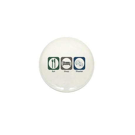 Eat Sleep Theater Mini Button (10 pack)