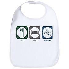 Eat Sleep Theater Bib