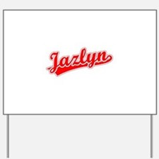 Retro Jazlyn (Red) Yard Sign