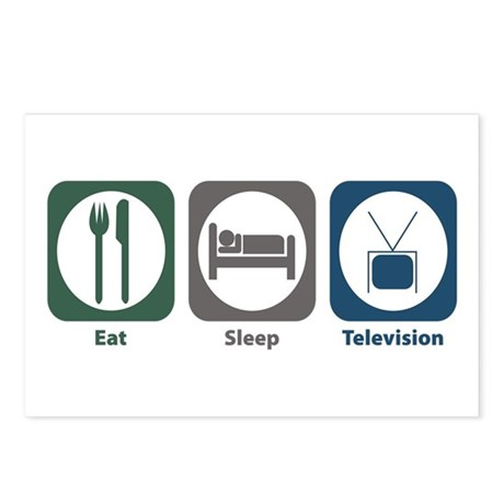 Eat Sleep Television Postcards (Package of 8)