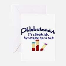 Phlebotomist Greeting Cards (Pk of 10)