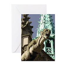 da Vinci's Gargoyle Greeting Cards (Pk of 10)