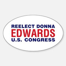 Reelect Edwards Oval Decal