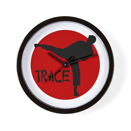 Trace Karate Wall Clock
