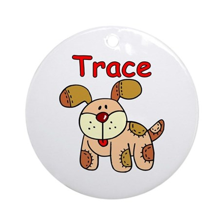 Trace Puppy Ornament (Round)