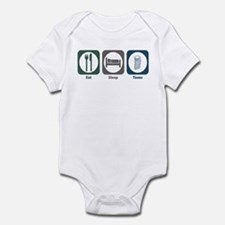 Eat Sleep Taxes Infant Bodysuit
