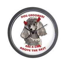 dog groomer Wall Clock