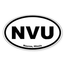 Nauvoo, Illinois Oval Decal