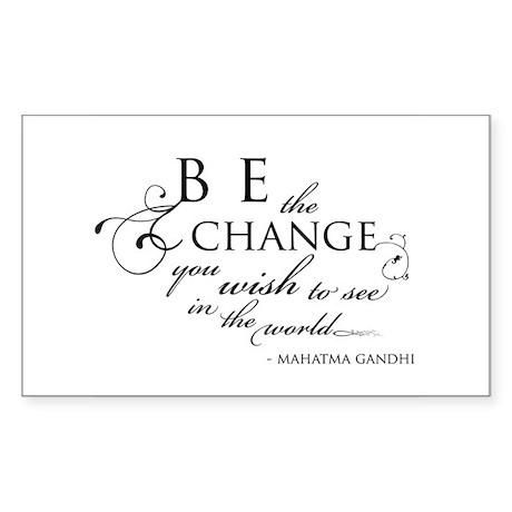 Change - Rectangle Sticker