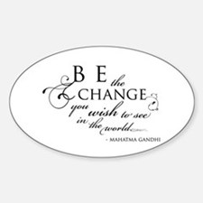 Change - Oval Decal
