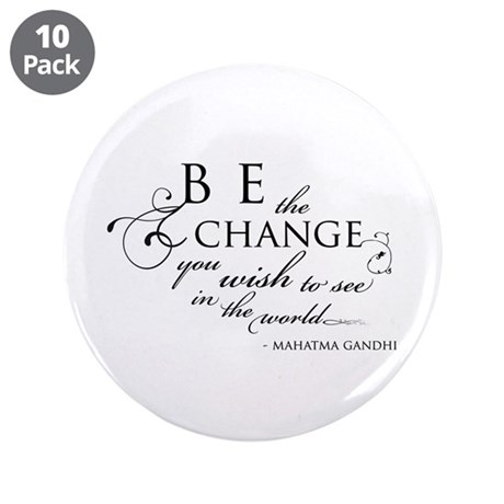 """Change - 3.5"""" Button (10 pack)"""