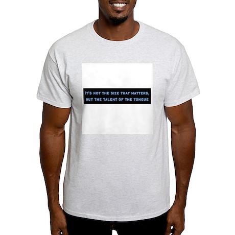 Talent of the Tongue Ash Grey T-Shirt