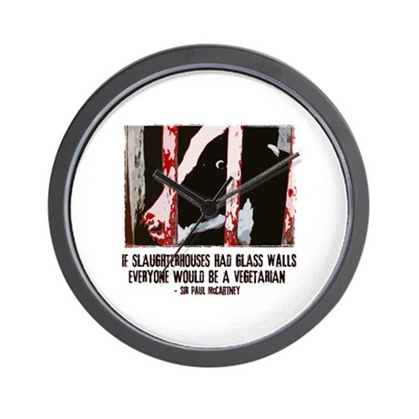 Slaughterhouse Cow Wall Clock