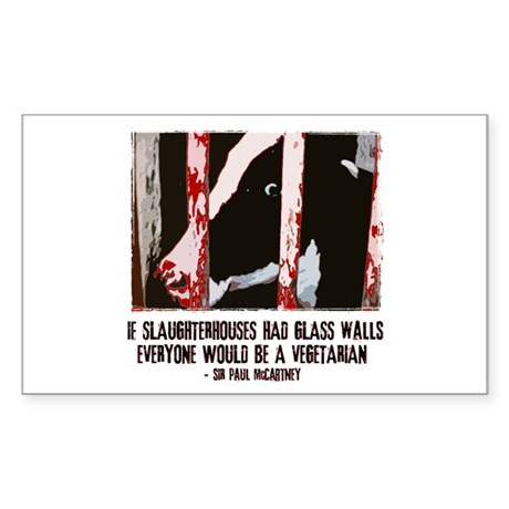 Slaughterhouse Cow Rectangle Sticker