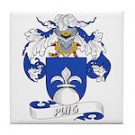Puig Family Crest Tile Coaster
