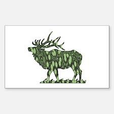 camo elk Rectangle Decal