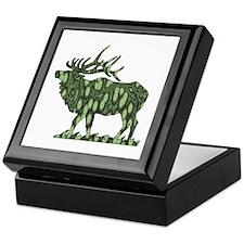 camo elk Keepsake Box