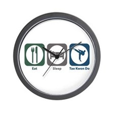 Eat Sleep Tae Kwon Do Wall Clock
