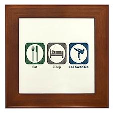 Eat Sleep Tae Kwon Do Framed Tile