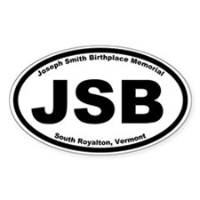 Joseph Smith Birthplace Memorial Oval Decal