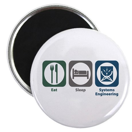 Eat Sleep Systems Engineering Magnet