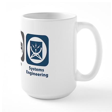 Eat Sleep Systems Engineering Large Mug