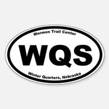 Mormon Trail Center at Winter Qtrs. Oval Decal