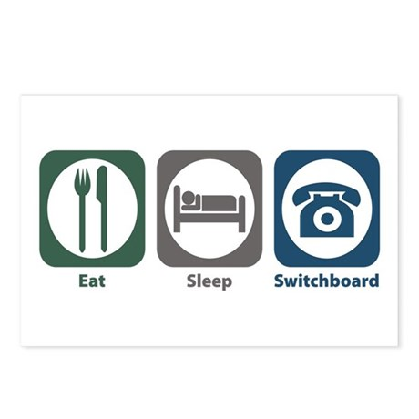 Eat Sleep Switchboard Postcards (Package of 8)