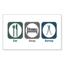 Eat Sleep Survey Rectangle Decal