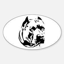 pit bull head Oval Decal