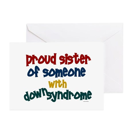 Proud Sister....2 (DS) Greeting Cards (Pk of 10)