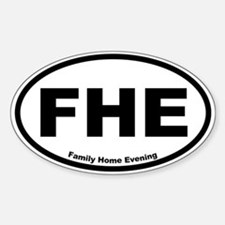 Family Home Evening Oval Decal