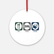 Eat Sleep Study Ornament (Round)