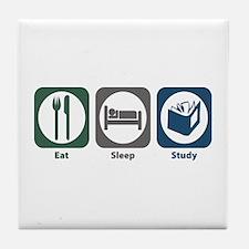 Eat Sleep Study Tile Coaster