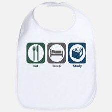 Eat Sleep Study Bib