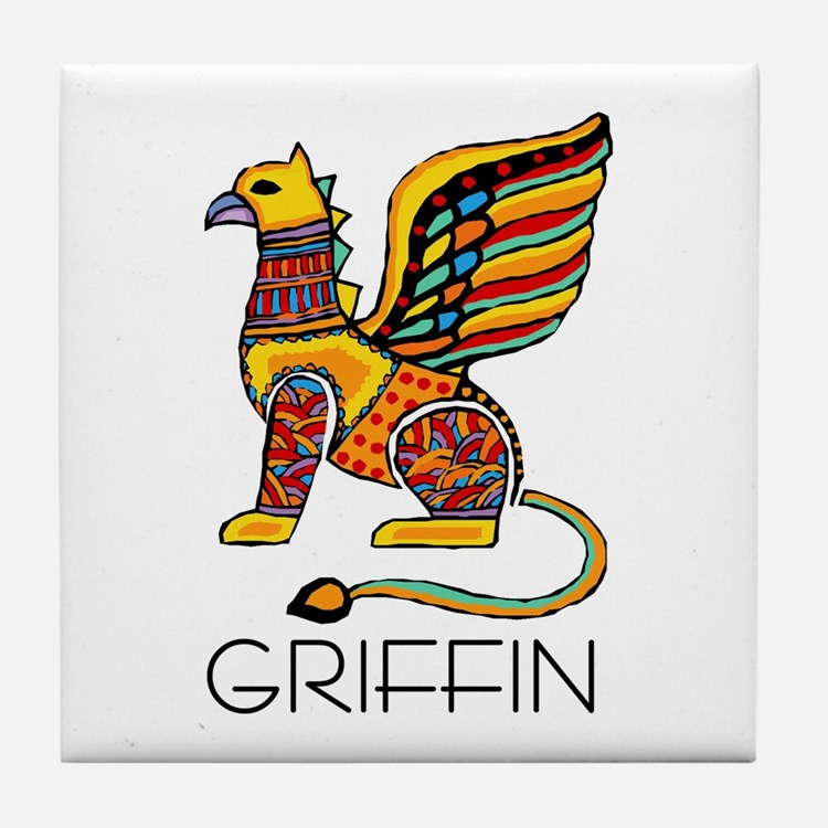 Colorful Griffin Tile Coaster