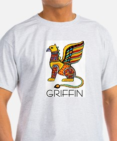 Colorful Griffin Ash Grey T-Shirt