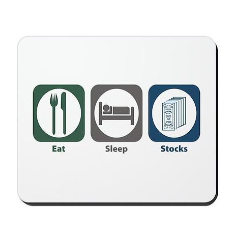 Eat Sleep Stocks Mousepad