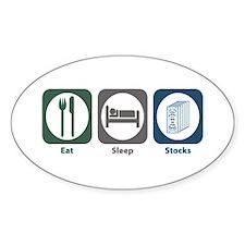 Eat Sleep Stocks Oval Decal