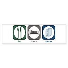 Eat Sleep Stocks Bumper Bumper Sticker