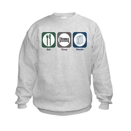 Eat Sleep Stocks Kids Sweatshirt