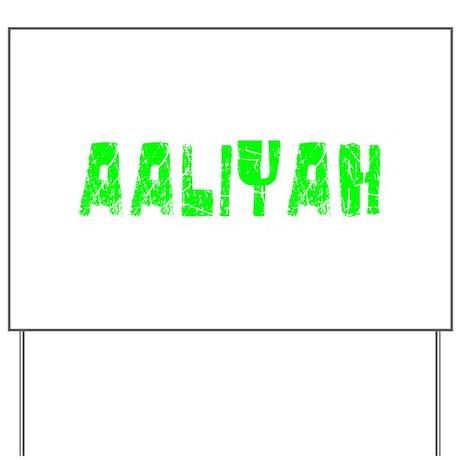 Aaliyah Faded (Green) Yard Sign