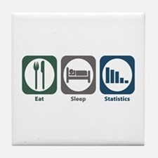 Eat Sleep Statistics Tile Coaster