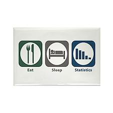 Eat Sleep Statistics Rectangle Magnet (10 pack)